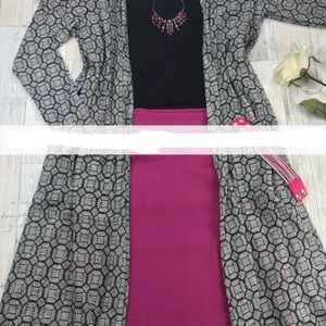 Lularoe Sarah black and grey
